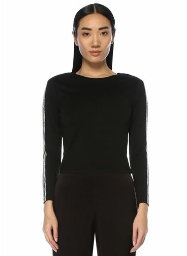 Alice+Olivia Alice+Olivia Raven  Taş Şeritli Uzun Kol Bluz 101449272 Siyah